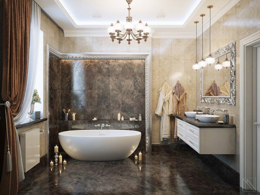 5 полезных советов для красивого освещения ванной