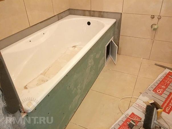 Мастер-класс: как сделать экран под ванну своими руками