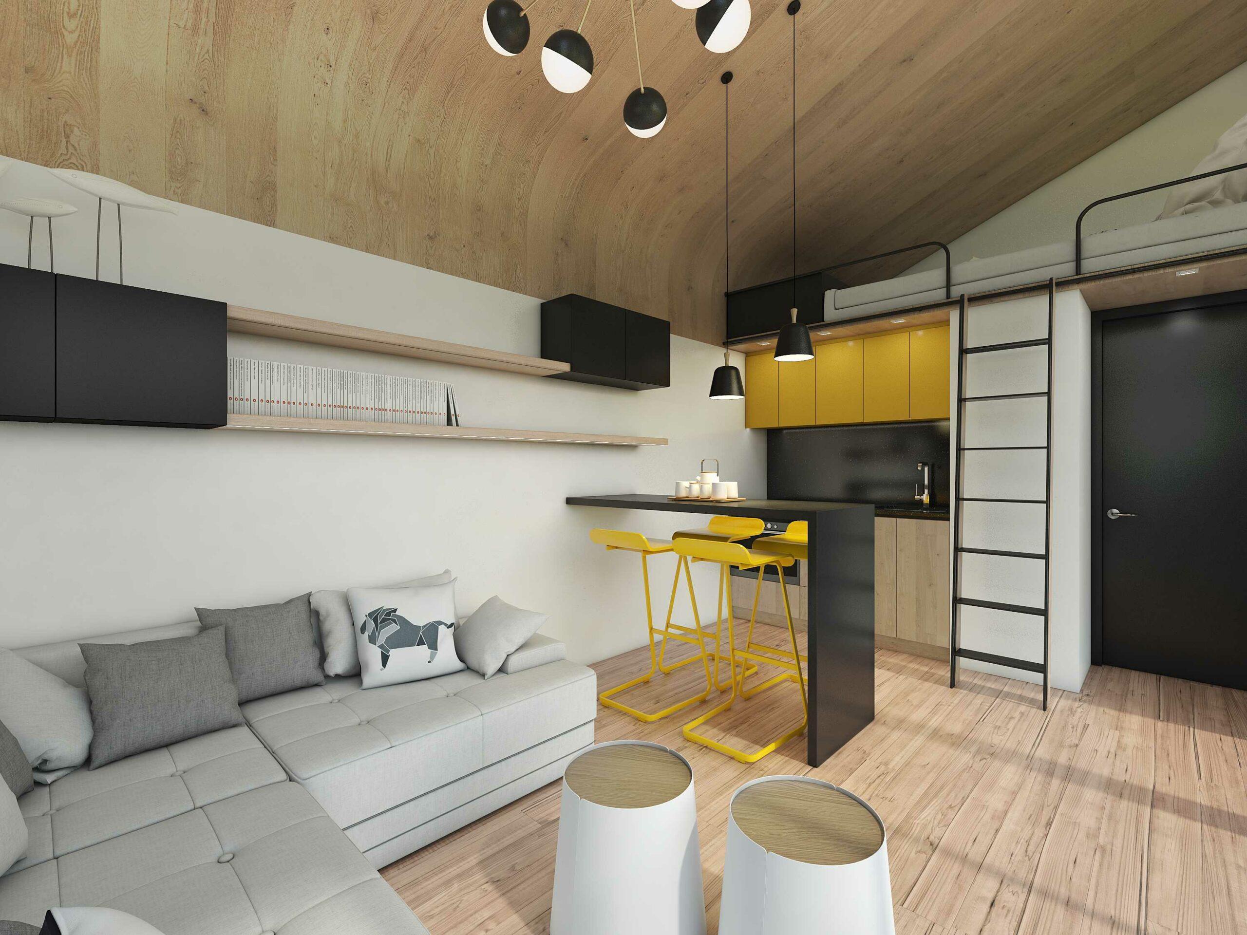 Квартира для трудоголика: минимум площади, максимум функциональности
