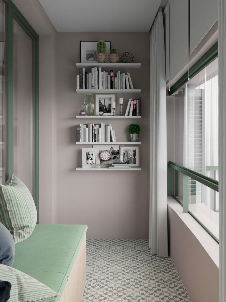 Если вы любите зеленый. Современная трехкомнатная квартира с зелеными акцентами