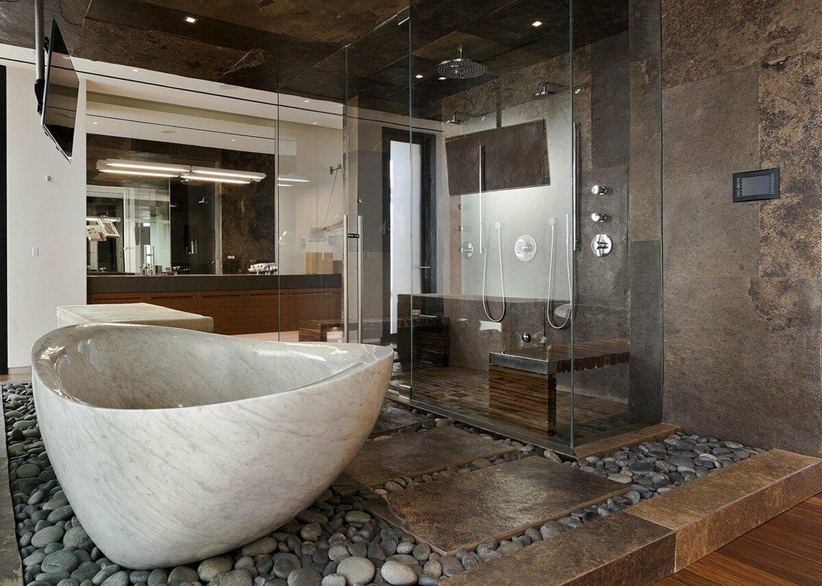 Материалы для отделки ванной комнаты. Это не только плитка