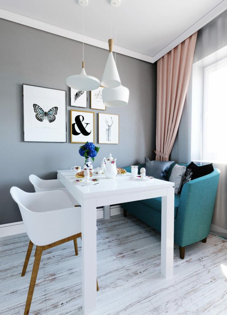 Уютный интерьер для мамы и сына. Приятная квартира, оформленная в скандинавском стиле с элементами классики
