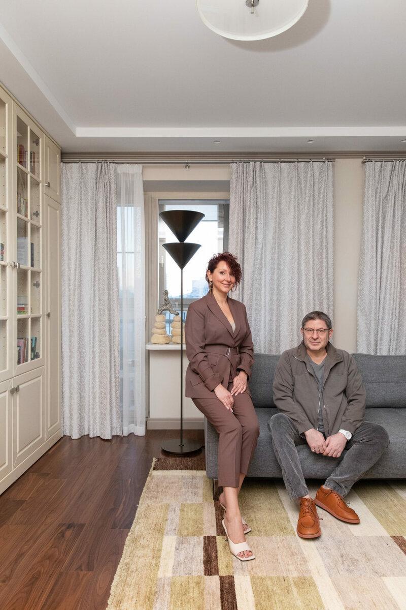 Квартира психолога Михаила Лабковского, 60 м²