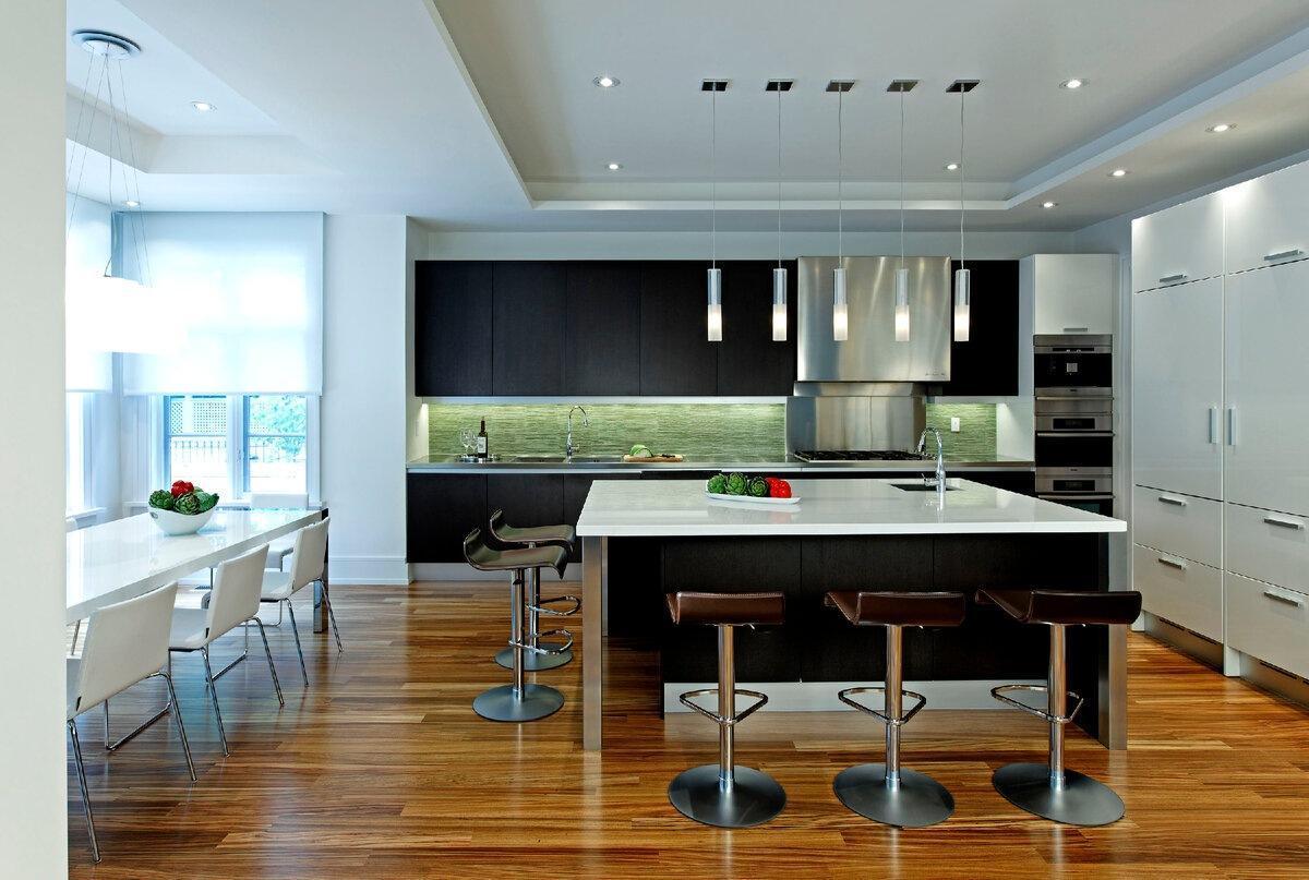 Топ-4 идеи дизайна кухни-гостиной, которые вам понравятся
