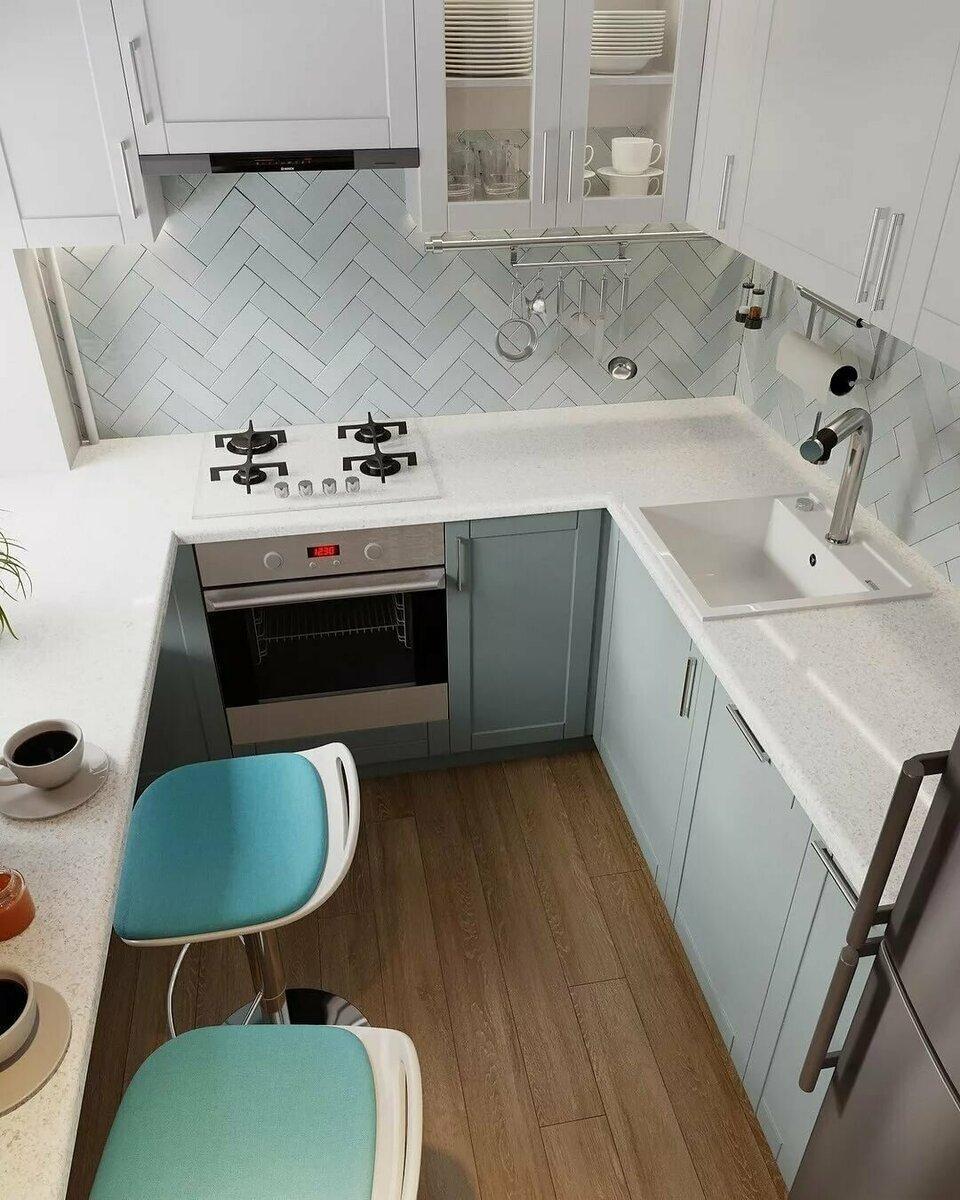 5 грамотных решений для маленькой кухни