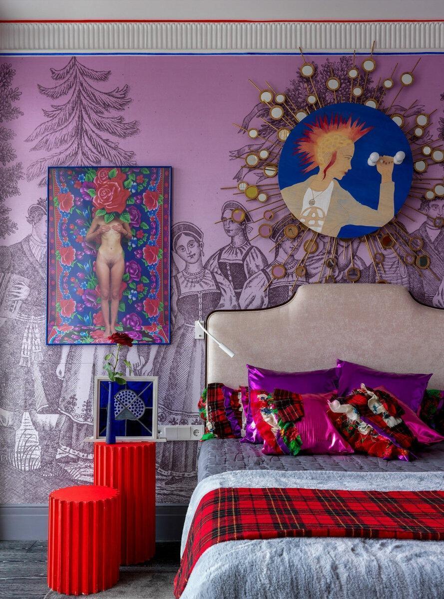 Как оформить яркую спальню: 8 примеров от дизайнеров