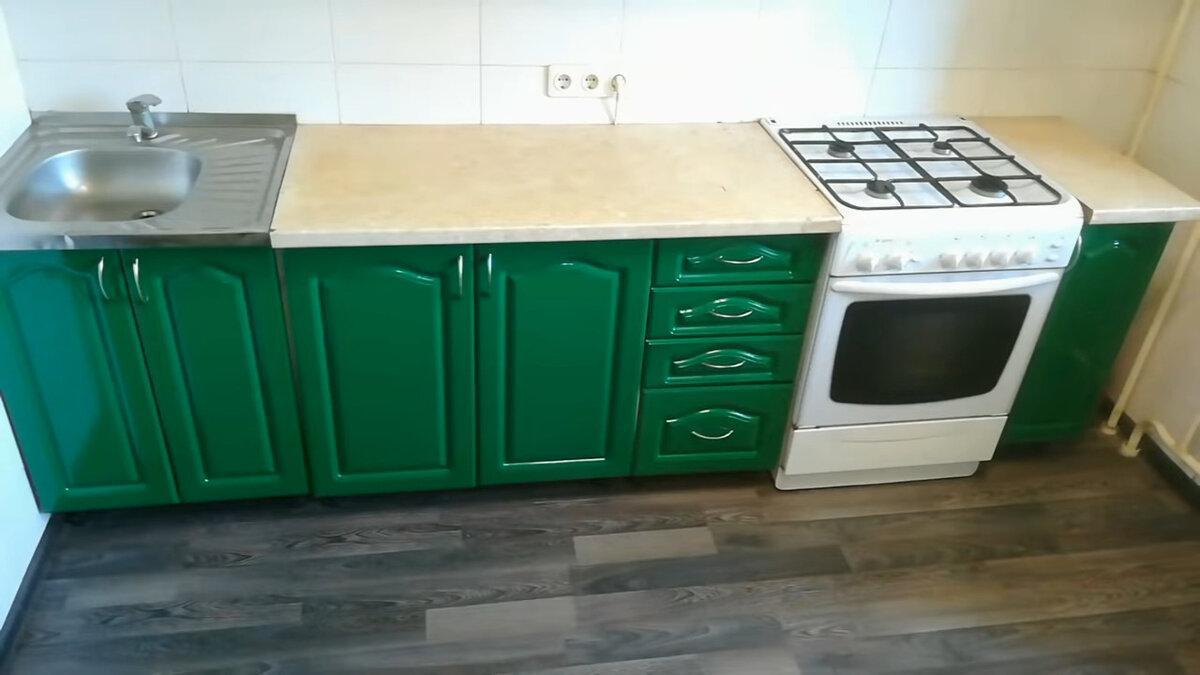 Не выкидывайте старую кухню. Показываю, как мой зять красиво обновил кухонный гарнитур