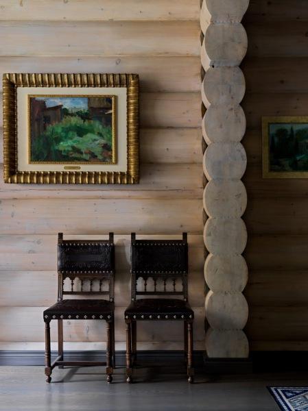 Интерьер дома из бруса по проекту Тины Камчатновой