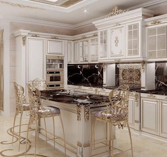 Элитный интерьер кухни