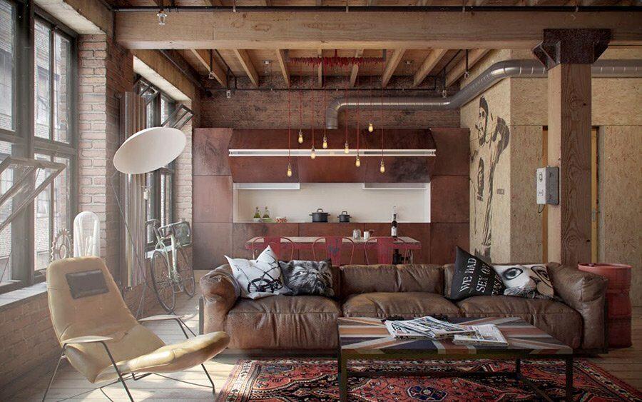 Обустройство индустриальных интерьеров: мебель в стиле лофт от Horecaspb