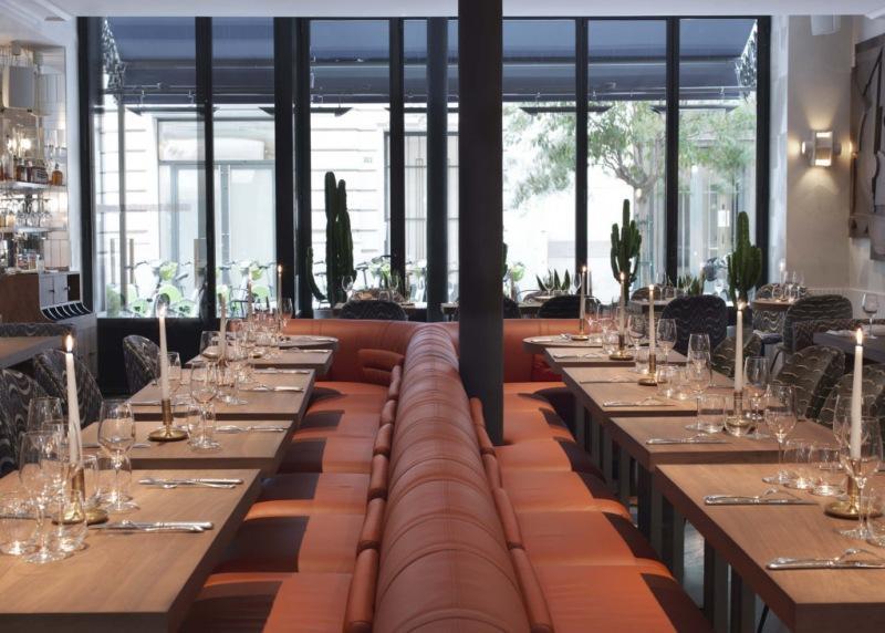 Ресторан в парижском отеле Grand Hôtel de Bachaumont