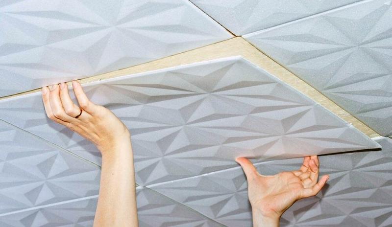 Что такое клеевой потолок?