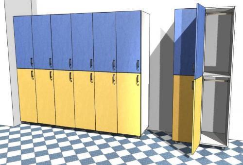 Глубина шкафчика в раздевалке. Наполнение металлических шкафов для раздевалок