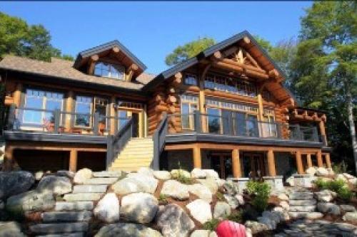 Канадские дома из бревна. Канадский сруб